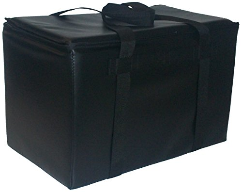 TCB Insulated Bags DST-3-Black Insulated Catering Bag for Steam Table Pans, Holds 4 4″ Pans, 16″ x 24″ x 17.75″, Black