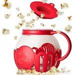 Ecolution Micro-Pop Microwave Popcorn Popper 3QT - Temperature Safe Glass w/Multi Purpose Lid, Family Size, Red