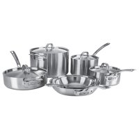 Viking 5-Ply 4515-1S10S 10 Piece Cookware Set, Silver