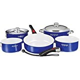 Magma Products, A10-366-CB Gourmet Nesting 10-Piece Cobalt Blue Stainless Steel Cookware Set