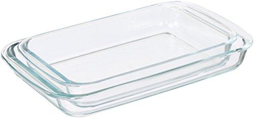 AmazonBasics Glass Oblong Baking Dishes – 2-Pack
