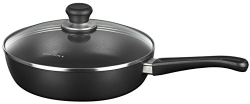 Scanpan Induction Plus Non-Stick Saute Pan with Lid, 11