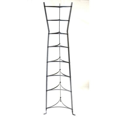 Enclume 8-Tier Gourmet Hourglass Cookware Stand, Assembled, Hammered Steel