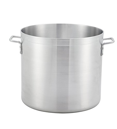 Winco ALST-100, 100-Quart 20″ x 17.7″ Extra Heavy-Duty Commercial Grade 3/16″ Thick Aluminum Stock Pot, NSF