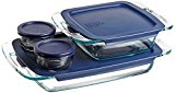 Pyrex Easy Grab Glass Bakeware and Food Storage Set (8-PieceBPA-free)