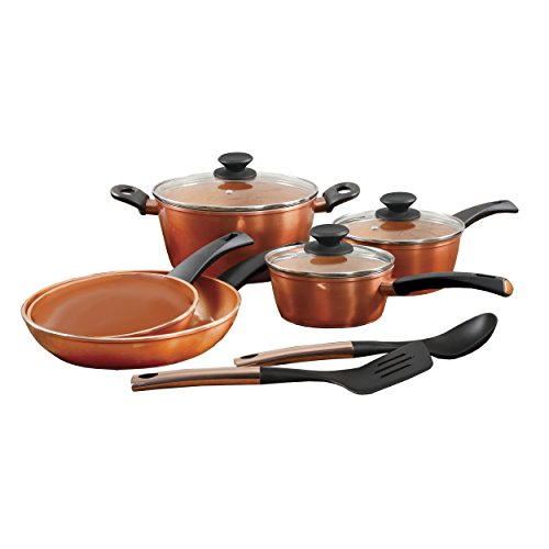 ECO-Friendly by Gibson Home 79577 Eco-Friendly by GH Frying Pan, 10 Piece, Copper
