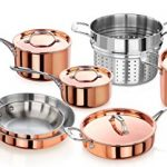 Artaste 56747 Rain Tri-Ply Copper Clad Induction Ready Cookware Set, 11-Piece