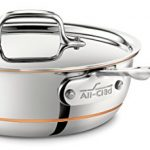 All-Clad 6212 SS Copper Core 5-Ply Bonded Dishwasher Safe Saucier Pan with Lid/Cookware, 2-Quart, Silver