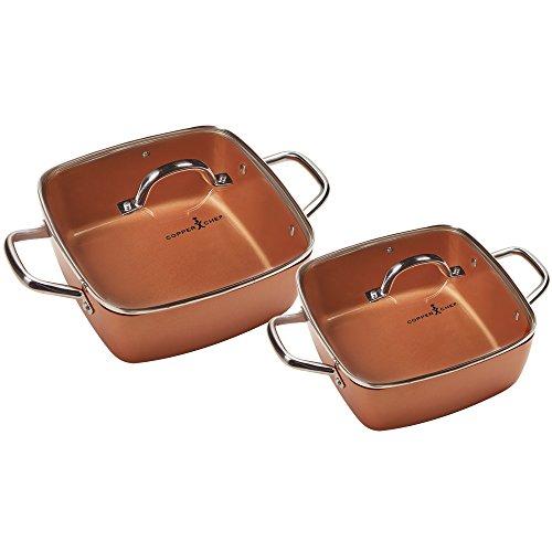 Copper Chef 8″/11″ Deep Dish Pan 4 Pc Set