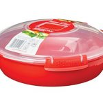 Sistema 1118 Microwave Cookware Round Dish/Plate, Red