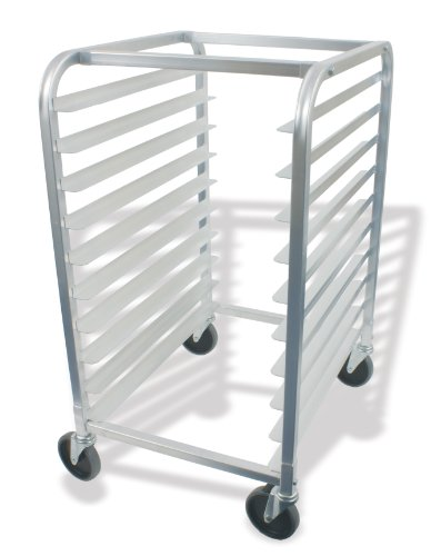 Crestware ABPR10 10-Tier Aluminum Bun Pan Rack, 26 by 20 by 38-Inch