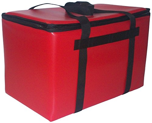 TCB Insulated Bags DST-3-Red Insulated Catering Bag for Steam Table Pans, Holds 4 4