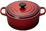 Le Creuset Signature Enameled Cast-Iron 2-Quart Round French (Dutch) Oven, Cerise (Cherry Red)