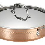 Lagostina Q5544764 Martellata Tri-ply Hammered Stainless Steel Copper Dishwasher Safe Oven Safe Stockpot / Casserolle Cookware, 5-Quart, Copper