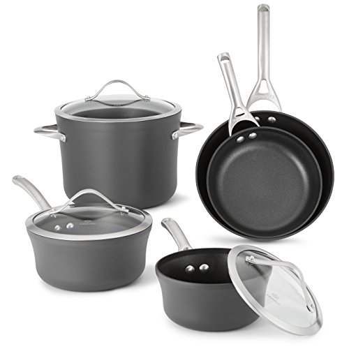 Calphalon 1876784  Contemporary Hard-Anodized Aluminum Nonstick Cookware, Set, 8-Piece, Black