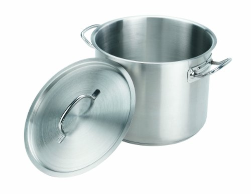 Crestware 35-Quart Stainless Steel Stock Pot with Pan Cover