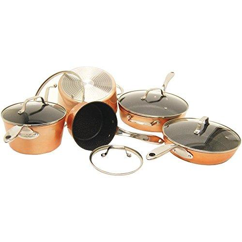 Starfrit 030910-001-0000 10 Piece Copper Cookware Set, Bronze