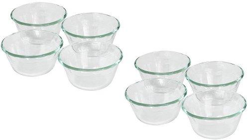 Pyrex Bakeware Clear Custard Cups, Set of 8, 6-Ounce