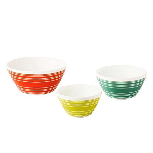 Pyrex 1125473 Vintage Charm Memory Lane 3 Piece Mixing Bowl Set, Multicolor