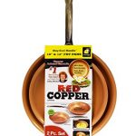 Red Copper Cookware 10- and 12-Inch Frying Pan Set of 2 by BulbHead