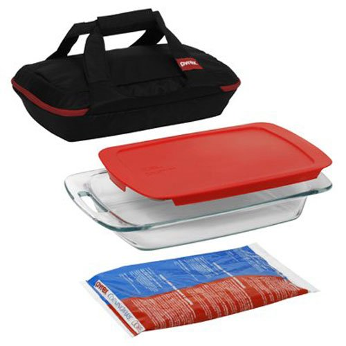Pyrex Portables 4-Piece Glass Bakeware and Food Storage Set