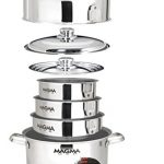 Magma Products, A10-366 Gourmet Nesting 10-Piece Stainless Steel Cookware Set