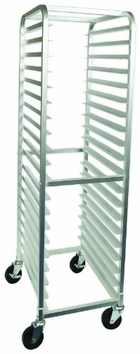 Crestware 20-Tier Aluminum Bun Pan Rack, 26-Inch by 20-Inch by 69-Inch