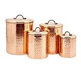 Old Dutch Hammered Copper Canister Set, Set of 4