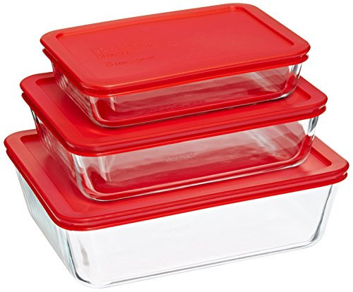 Pyrex Simply Store 6-pc Rectangular Set