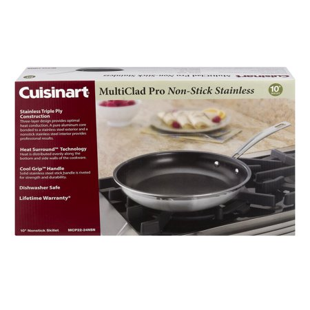 Cuisinart Multi Clad Non-Stick Stainless Skillet - 10 Inch Pan, 1.0 CT