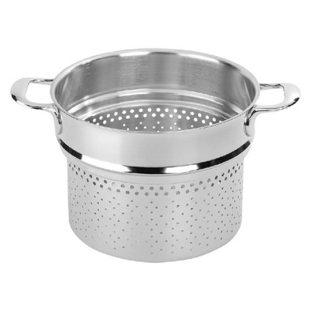 Demeyere Atlantis 8-qt Stainless Steel Pasta Insert (Fits 8.5-qt Stock Pot)