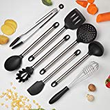 COOKSMARK Kitchen Utensils Set, 8-Piece Nonstick Cooking Utensils Set, Silicone & Stainless Steel Spatula Set, Great Kitchen Tools for Gift, Heat Resistant - Dishwasher Safe