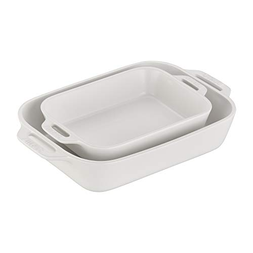 Staub 40508-073 Ceramics Rectangular Baking Dish Set 2-piece Matte White