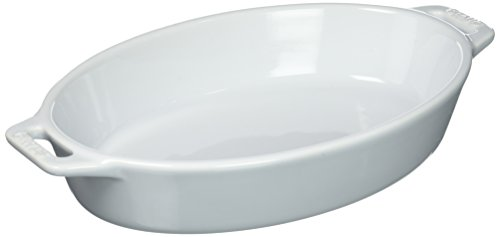 Staub 40508-603 Ceramics Oval Baking Dish 9-inch White