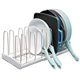 YouCopia 50138 StoreMore Expandable Cookware organizer, One Size, White