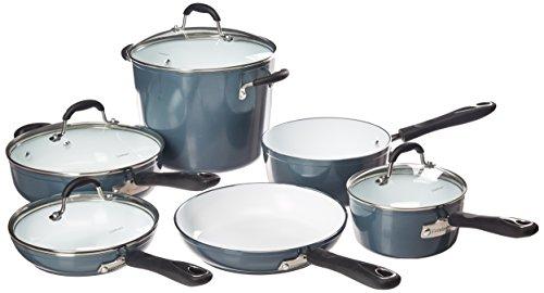 Cuisinart 59-10SB Elements Non-Stick 10 Piece Set, N/A, Slate Blue