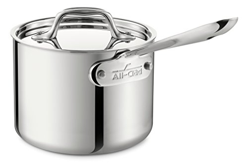 All-Clad 4202 Stainless Steel Sauce Pan with Lid Cookware, 2-Quart, Silver