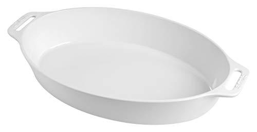 Staub Oval Dish, White, 2.4 qt. - White