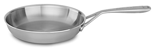 KitchenAid KC2T10SKST Tri-Ply 10″ Skillet, Stainless Steel, Medium