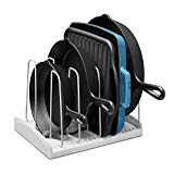 YouCopia 09041-01-WHT StoreMore Adjustable Cookware Rack Pan Organizer, 6 diviers