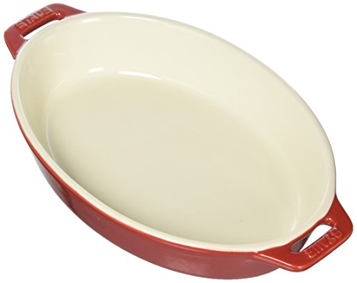 Staub 40508-606 Ceramics Oval Baking Dish, 9-inch, Cherry