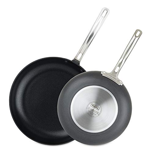 Viking 40051-1182-1012 Hard Anodized Nonstick Fry Pan Set, 10 Inch and 12 Inch, Gray