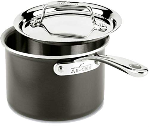 All-Clad 8701005443 LTD Cookware Saucepan, 2Qt Sauce Pan, Black