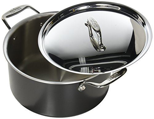 All-Clad 8701005448 LTD Cookware Stockpot, 8Qt Stock Port, Black