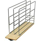 Knape & Vogt TDRO-FNW-6 in. Tray Divider Roll Out Cabinet Organizer, Frosted Nickel
