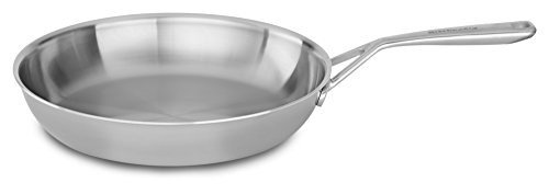 "KitchenAid KC2T12SKST Tri-Ply 12"" Skillet, Stainless Steel, Medium"