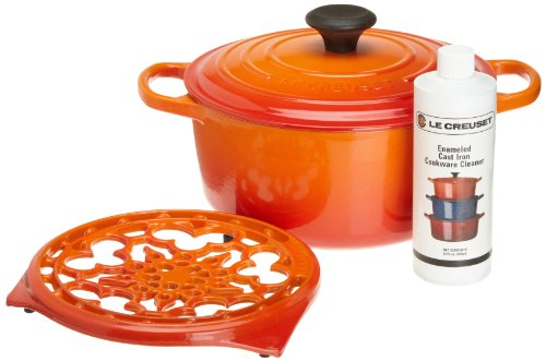 Le Creuset Cast Iron Cookware Gift Set, Flame
