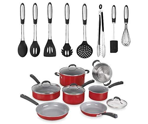 Cuisinart 59 10sb Elements Non Stick 10 Piece Set N A Slate Blue The Cookware Channel