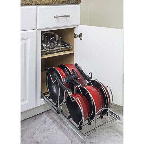 """Hardware Resources Pots and Pan Orgainzer for 15"""" Base Cabinet MPPO15-R by Cabinet Organizers"""
