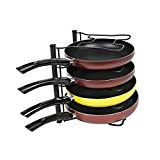 Pot Lid Rack Organizer Bakeware Cookware Storage Rack for Kitchen, Cabinet, with 4 Tier Rack,Metal